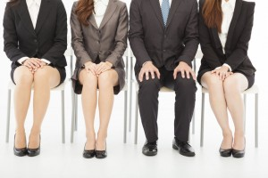 29191469 - business people waiting for job interview over white